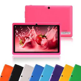 Wholesale Dual Cameras Android Tablet - Q88 7 Inch Android 4.4 Tablet PC ALLwinner Cheap A33 Quade Core Dual Camera 8GB 512MB Capacitive Cheap Tablets