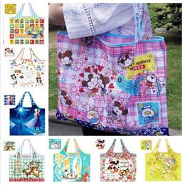 Wholesale Supermarket Supplies - Hot sale 15 styles Cartoon pattern Supermarket shopping bag Folding Environment-Friendly Bag Travel supplies Finishing bag DA524
