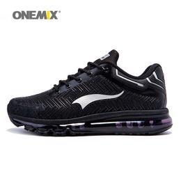 Wholesale Winter Footwear For Men - Onemix Man Running Shoes for Men 2018 Air Cushioning Sneakers Original Athletic Trainers Sport Shoe Mesh Breathable Outdoor Walking Footwear