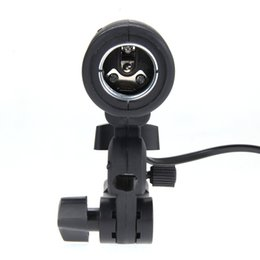 Wholesale Umbrella Flash Stand - Free Shipping Photo Studio Strobe Light E27 Slave Flash Bulb Umbrella Holder Socket Studio Photo Light Stand Adapter wholesale