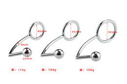 Wholesale Sex Anal Ball - Stainless Steel Anal Hooks Fetish Metal Butt Plug Strap On Anal Balls Sex Toys For Men&Women Adult Products BDSM Chastity Device