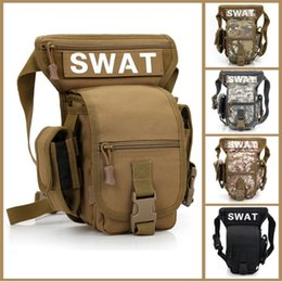 Wholesale Thigh Pouches - Fashionable Swat Military Waist Pack Tactics Outdoor Sport Ride Leg Bag Special Waterproof Utility Thigh Pouch