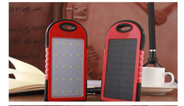 Wholesale Solar Charger Back - 18650 Emergency Power Solar Charger,Waterproof 8000mAh 12pcs LED Solar Power Bank Panel Backup Battery Camping Charger Dual USB Back