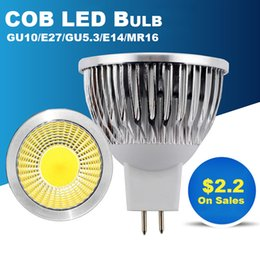 Wholesale Spots 12v - Hilumen LED Spotlight Bulbs with E27 GU10 GU5.3 E14 MR16 Base, AC85~265V   DC 12V, GU10 LED Spot lights, Downlight Bulb