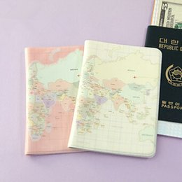 Wholesale Travel Case For Passports - hot sell PVC cute travel accessories World map case for passport holder, passport cover , travelling bag protective sleeve