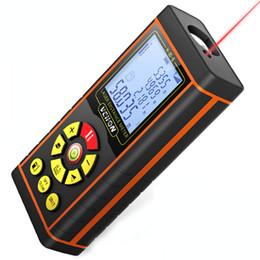 Misura del nastro a distanza laser online-Laser digitale di alta qualità Distance Meter elettronico Laser Tape Range Finder righello Area Diastimeter Misura righello metro distanza laser
