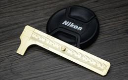 Wholesale caliper tools - Wholesale-Free shipping High Qualtiy brass Vernier Calipers Measure Measurement Tool,Pocket 100mm Mini Brass Sliding Gauge Vernier Caliper