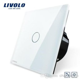Wholesale Remote Ac Wall Switch - Free Shipping, Livolo EU Standard Switch, VL-C701DR-11, White Crystal Glass Panel, AC 110~250V Remote& Dimmer Wall Light Switch