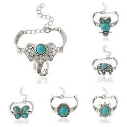 Wholesale Wholesale Designer Style Bracelet - Charm Bracelets for Women 2016 Vintage Designer Retro Style Bracelet Turquoise Elephant Owl Boho Bracelets Jewelry Charm Bracelets Bangles