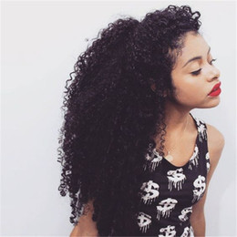 Wholesale Malaysian Curly Silk - 2016 Deep curly full lace human hair wigs glueless silk base with baby hair for black women