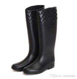 Wholesale rainboots sale - new knee high women short rubber tall fashion brand designer rainboots Wellies rain boot water shoes for female cheap sale