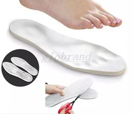 Wholesale Full Size Foam - Unisex Adjustable Memory Foam Insoles Full Size Foot Care Comfortable Pain Relief Shoe Insole Breathable Absorbing Orthotic Arch MYY