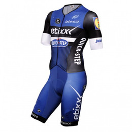 Wholesale Men Cycling Skinsuit - FREE SHIPPING!!!MEN'S SKINSUIT BODYSUIT BICYCLE JERSEY CYCLING WEAR 2016 ETIXX QUICK STEP PRO TEAM BLUE SIZE:XS-4XL