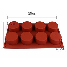 Wholesale Muffin Cookies - 1 Pc 8 Holes Round Shape Silicone Cake Mold 3D Handmade Cupcake Jelly Pudding Cookie Mini Muffin Soap Mold DIY Baking Tools