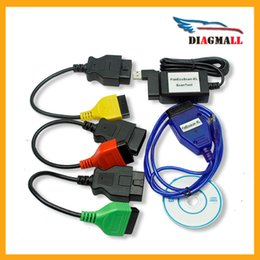 Wholesale Fiat Ecu - Best Selling Colorful Full Set Fiat ECU Scanner Code Reader Diagnostic Tool For FIAT Alfa Romeo   Lancia USD Fiat Scanner