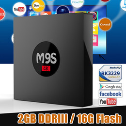 Wholesale New Exclusive - New Exclusive TV Box M9S K3 Android 6.0 2GB 16GB KD17.3 RK3229 Quad Core Ultra HD HDMI Wifi 4K Streaming TV Boxes Better X96 Mini TX2 S905W