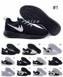 Wholesale Sport Light Sale - 2016 Hot Sale Roshe Run One Mesh Men Running Sport Shoes Roshes All Black All White Oreo Breathable Trainer Sneakers Size 36-44