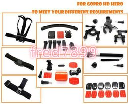 Wholesale Hero3 Black Edition - Go Pro hero3 Accessories Set Tripod+Monopod Bobber Chest helmet +Body Strap+Screw for Go Pro Hero 4 3 3+ 2 Black Edition sj4000