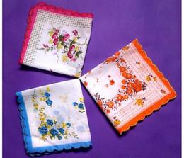 Wholesale Ladies Handkerchiefs Embroidered - 18pcs lot 30*30cm new Ladies Vintage Cotton Flower Embroidered pocket Handkerchiefs floral free shipping