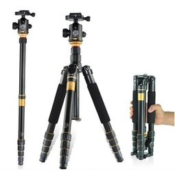 Wholesale Compact Digital Camera Tripod - lightweight Portable Q666 Professional Travel Camera Tripod Monopod aluminum Ball Head compact for digital SLR DSLR camera