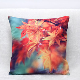 Wholesale 3d Leaves - 3D Maple Leaves Pillowcase For Bedroom Decorative Printing Pillowslip Fall Pillow Cushion Cover Comfortable Household Goods 7hj C R