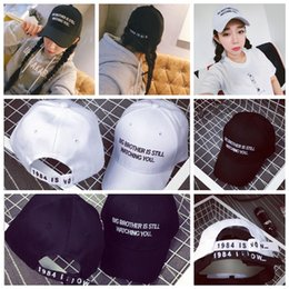 Wholesale Men Cap Small - ulzzang simple double embroidery letter baseball cap candy colors small cap men and women tide outdoor YYA394