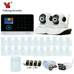 Wholesale Outdoor Housing Ip Camera - Wholesale- YobangSecurity Wireless Outdoor IP Camera WIFI GSM GPRS RFID Autodial House Office Burglar Intruder Alarm System Android IOS APP