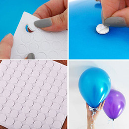 Wholesale Glue Ceiling - 100points piece Balloon attachment glue dot attach balloons to ceiling or wall balloon stickers Birthday party wedding dress wholesale
