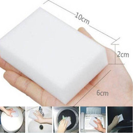 limpiadores de esponja Rebajas 100x60x20mm limpieza multifuncional esponjas mágicas borrador espuma de melamina Magic Sponge Eraser multifuncional limpieza del hogar almohadilla limpiadora