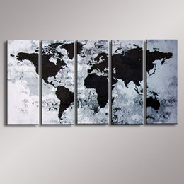 Wholesale Oil Paintings Maps - World Map painting Oil Painting 100% Hand Painted Modern Wall Art Painting ,Abstract oil painting WM-005