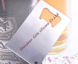 Wholesale Business Card Company - 200pcs Personalized Card Sized Bottle Opener Custom Company Logo Engraved   Printed Metal Business Card Bottle Opener