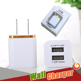 Wholesale Iphone Red Wall Adapter - Iphone7 Dual USB Port Wall Charger 5V 2A EU US Plug USB charger Adapter Universal AC Power Adapter Samsung Note 7 retail box
