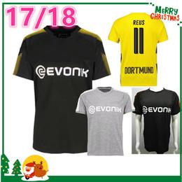 Wholesale Dortmund Jerseys - 17 18 Dortmund home away Jerseys 2017 2018 REUS jersey AUBAMEYANG MKHITARYAN HUMMELS sport shirt