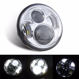 """Wholesale Halo Headlamps - 5-3 4"""" 5.75 inch Motorcycle Daymaker LED Projector Halo Headlight for Harley Davidson Headlamp Spotlight Driving Light"""