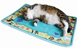 Wholesale furniture blankets - 5PCS LOT FATCAT Toys Cat Mat House Bed Kitten Scratching Mat Furniture Dish Bowl Food Water Tray Clean Mats Free Shipping