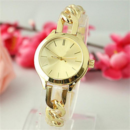 Wholesale Dress Style Jewelry - Luxury Fashion Classic style Twist chain quartz Watches Jewelry button Hot Selling Ladies Watch Steel Women Dress quartz Watches