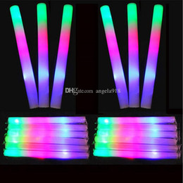 Wholesale Rods Wholesales - LED Colorful rods led foam stick flashing foam stick, light cheering glow foam stick concert Light sticks EMS C1325
