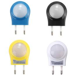 Wholesale Halogen Sensor Light - New Arrival Mini LED Night Light Lighting Control Auto Sensor Baby Kid Bedroom Lamp EU Plug White Green Blue Black