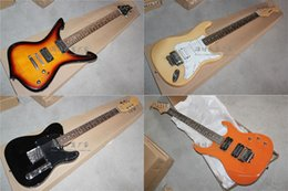 Wholesale Orange Left Handed Electric Guitar - Big clearance sale 1 Sunburst Iceman 2 Natural TL Floyd Rose Tremolo 3 Black TL 4 Orange ST Floyd Rose Tremolo Electric Guitars 1 Stock Left