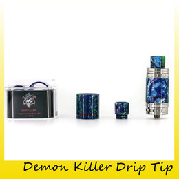 Wholesale Demon Glass - Authentic Demon Killer Resin Kit Glass Tubes and Drip Tips for TFV8 Baby TFV12 Eleaf Melo 3 and Mini Ijust S Aspire Cleito 100% Original