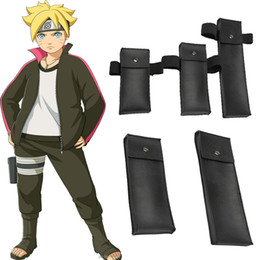 Wholesale Costume Bags - HOT Anime Naruto Urhobo Dedicated Bag Cosplay Costume Accessories Blak Free Size PU Free Shipping Halloween Chrismas