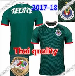 Wholesale Shirt Usa - 17 18 Chivas Guadalajara soccer jersey 2017 2018 chivas third green Camiseta de futbol BRIZUELA GULLIT football shirt Free epacket to USA