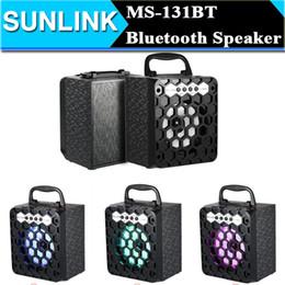 Wholesale Bluetooth Audio Plug - MS-131BT Multimedia Wireless Bluetooth Speaker Loudspeaker FM Radio Mobile Mp3 Speakers Subwoofer USB 3.5mm Plug Support USB TF Card