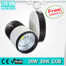 Wholesale Free Shopping Malls - Wholesale-Free Shipping 20W LED Track Lights AC110V 220V Shopping Mall Store Exhibition Room LED Track Lighting With 2-Wire Connector