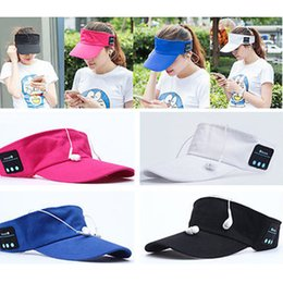Wholesale Wholesale Sports Caps Hats - Summer Bluetooth Music Hat Smart Sun Hat Outdoor Sports Stereo Music Headset with Speaker Bluetooth Cap Hat YYA573