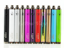 Wholesale E Cig Vapors - Vision Spinner 2 battery ecig huge vapor variable voltage batteries e cig vape MOQ 10pcs Airport Post Free Shipping