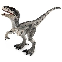 Wholesale Dinosaur Toys Big - Jurassic Dinosaur World Big Simulation Dinisaurs King T-Rex Figures PVC Velociraptor Model Toy For Kid Christmas Gift Free Shipping