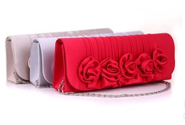 Wholesale Clutch Dropship - Women Clutch pinkycolor Rose bridal bag Evening Bag dropship Handbag Luxury oblong-shaped Bag prom Party bag