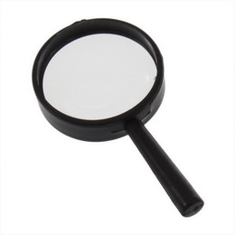 Wholesale handheld magnifying glasses - Wholesale-2 pcs Reading 5X Magnifier Hand Held Magnifying 25mm Glass handheld 2016New Arrival Free Shipping