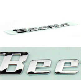 Wholesale Chrome Auto Letters - New product auto spare parts car accessory New beetle logo beetle letter bagde beetle emblem chrome Decal sticker for VOLKSWAGEN